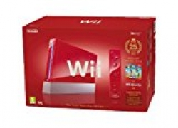 Wii Jubiläumsedition rot inkl. New Super Mario Bros, Donkey Kong und Remote Plus Controller