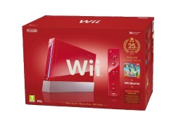 HOT DEAL: Rote Wii Jubiläums Pack inkl. New Super Mario Bros, Wii Sports, Donkey Kong und Remote Plus Controller (rot)