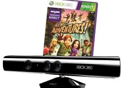 Xbox: Kinect Sensor inkl. Kinect Adventures, Fruit Ninja, Gunstringer & Xbox Live Gold (3 Monate) für nur 99€