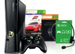 HOT! [Bundle] Xbox360 Slim 250GB + Forza 4 Essential Edition + Skyrim + FIFA 13 Ultimate Steelbook für nur 262,93€