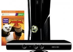 Xbox 360 Konsole Slim (250 GB) inkl. Kinect Sensor, Kung Fu Panda 2 und Kinect Adventures für 249€