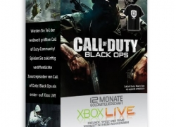 Xbox 360: 12 Monate Xbox Live + Call of Duty Black OPs T-Shirt für 39,99€ inkl. Versand