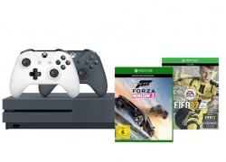 Xbox One S 500GB Konsole (Grau) – FIFA 17 Bundle inkl. 2. Controller + Forza Horizon 3 für 289€