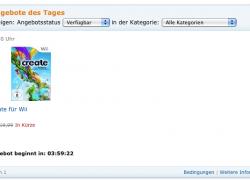 Amazon Blitzangebot: Create (Wii) ab 17 Uhr für ???