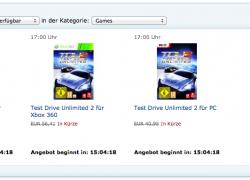 Blitzangebot Amazon: Test Drive Unlimited 2 für ???€