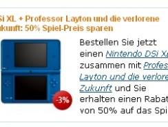 Nintendo DSi XL + Professor Layton und die verlorene Zukunft für ~190€ inkl. Versand