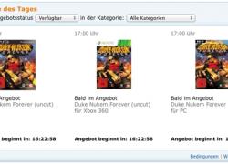 Amazon Blitzangebot: PS3 & XBOX: Duke Nukem Forever ab 17 Uhr