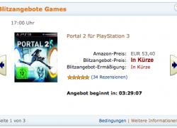 XBOX & PS3: Portal 2 im Amazon Blitzangebot ab 17 Uhr
