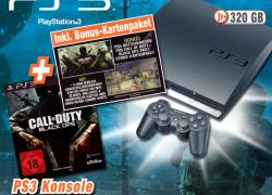 Lokal: expert bietet PS3 (320GB) Bundle mit Call of Duty BlackOps, Mappack und DualShock Wireless Controller für 299€ an