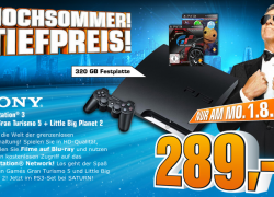 Lokal: Bundesweite Saturn Aktion: PlayStation 3 inkl. Gran Turismo 5 und Little Big Planet 2 für 289€