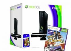 XBOX360 S 4GB inkl. Kinect, Joy Ride und Kinect Adventures für 302,96€