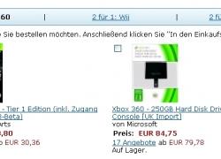 2 für 1 Aktion mit Wii, Xbox 360, PS3 und DS Spielen und Zubehör bei Amazon