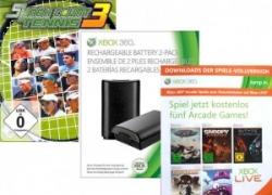 [Aktion] X360 Batterie Pack 2er schwarz + Smash Court Tennis 3 + 5 XBL Arcade Games