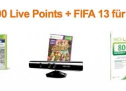 [Aktion] Kinect Sensor + 800 Live Points + FIFA 13 für 139€ bestellen